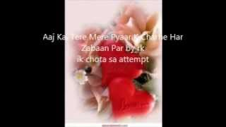 Sing Along Aaj Kal Tere Mere Pyaar Charche by rk. for Entertainment Purposes  Not for sale