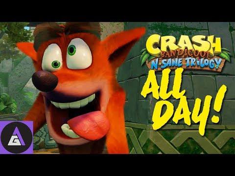 CRASH BANDICOOT ALL DAY MARATHON! (Complete Crash 1 & Crash 2 Play through)