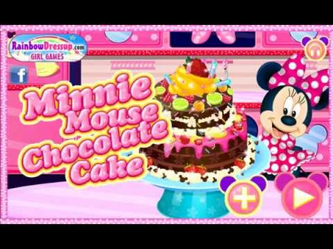 Games 4 girl Minnie Mouse Chocolate Cake Cooking games barbie and