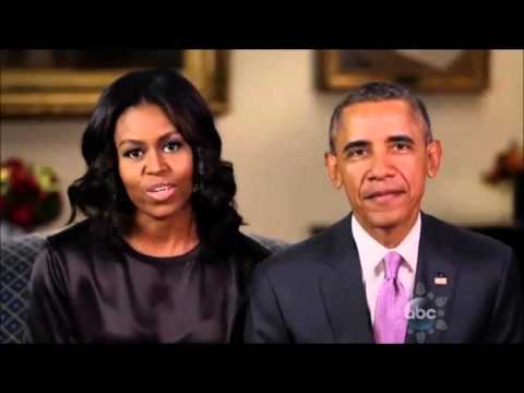 Obama thinks Christmas is about loving tiny trees - YouTube