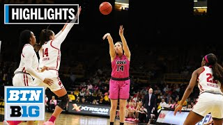 Highlights: Wisconsin at Iowa | B1G Women's Basketball | Feb. 16, 2020