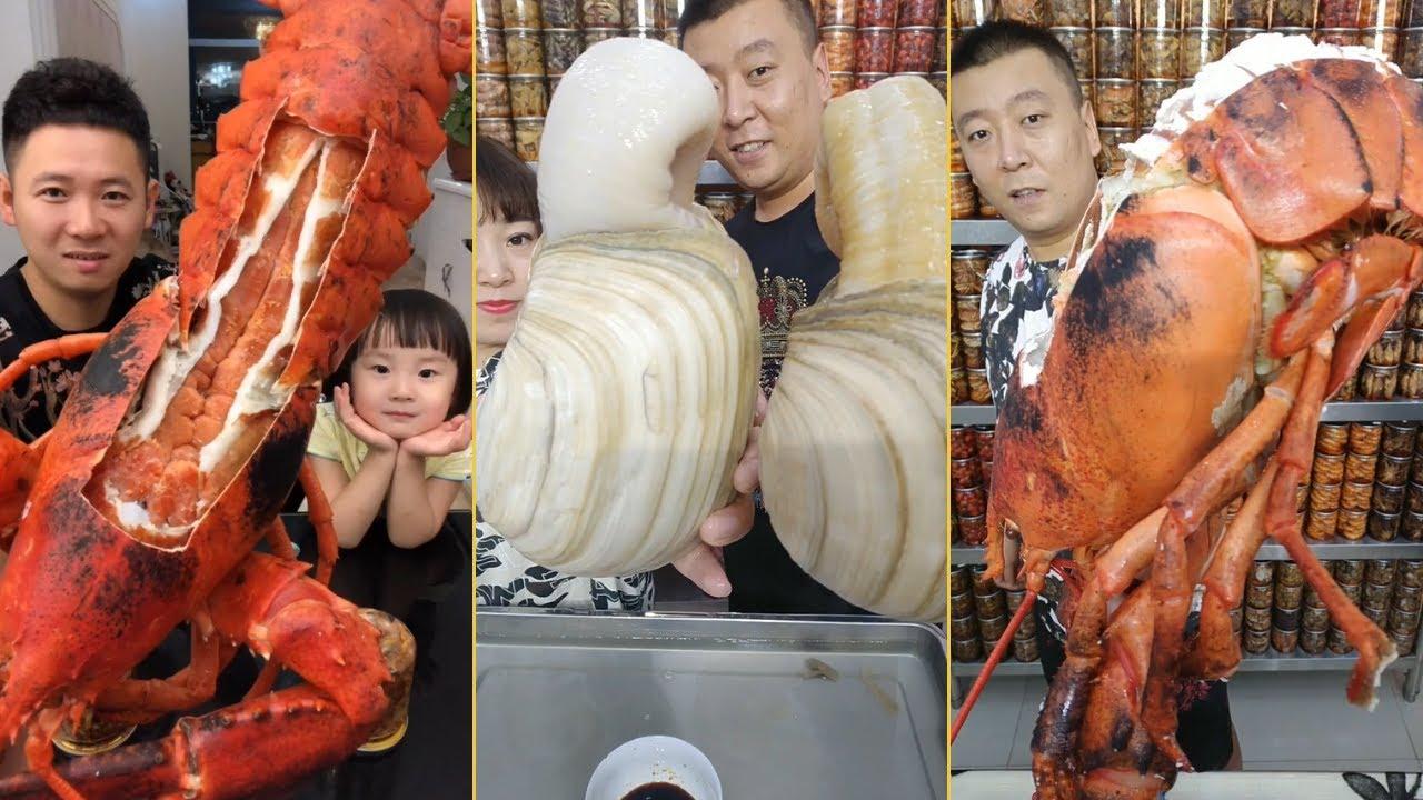 Thánh ăn tôm hùm,cua hoàng đế,Kingcrab,lobster #3 🦑🦀🦐🦞🐟 Thánh ăn hải sản trung quốc
