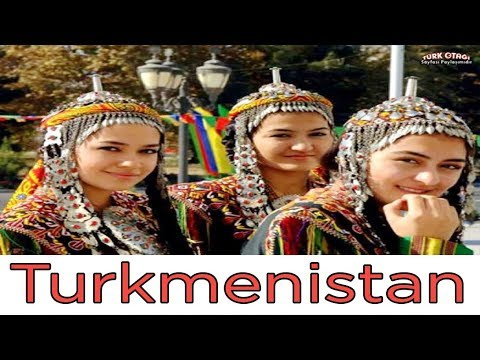 Туркменские девушки в национальных ювелирных украшениях/Turkmen Girls In National Jewelry