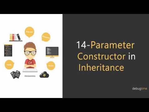 14 - C# Tutorial in Hindi and Urdu - Constructor parameter lifecycle in Inheritance Mp3