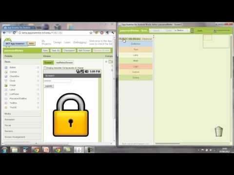 App Inventor Tutorial Password Protected