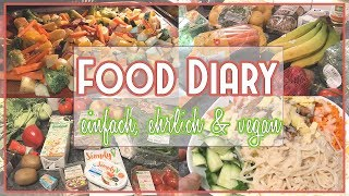 DAS esse ich WIRKLICH in 9 TAGEN! 🌱EINKAUF & FOOD DIARY + einfache VEGANE REZEPTE 🥗