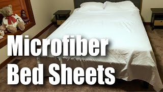 HOMFY 4 Piece Soft, Breathable, Hypoallergenic Microfiber Queen Bed Sheet Set Review