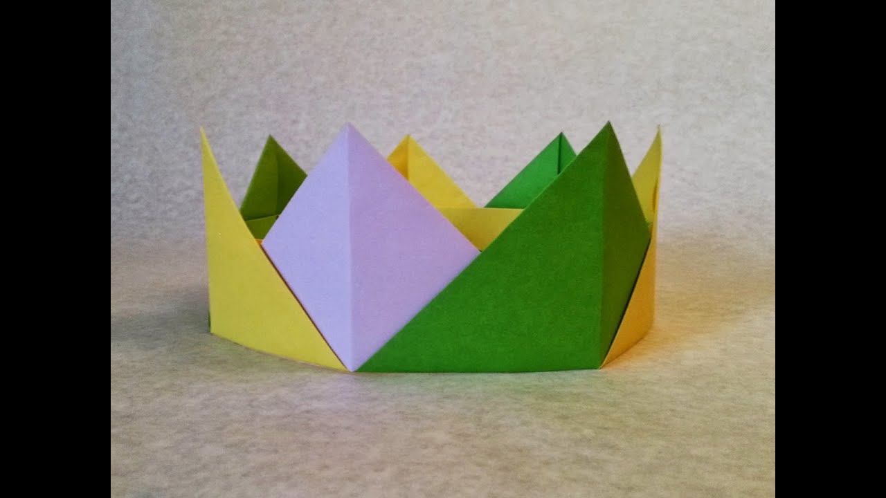 Easy Origami Crown Folding Or Crown Paper Folding Step By Step Youtube