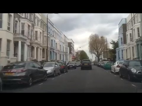 Driving in London - Notting Hill to Queensway