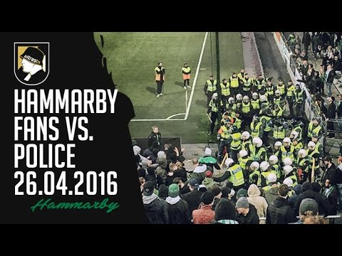 Hammarby fans vs police 26.04.2016