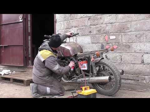Часть 6.Мотоцикл Иж с двигателем Хонда.Motorcycle IZH with Honda engine.