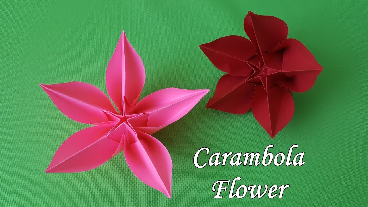Origami Flower Carambola How To Make Youtube