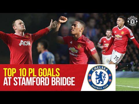 Manchester United's Top 10 Premier League Goals At Chelsea |  Chelsea v Manchester United |