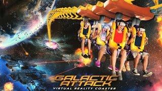 Six Flags America Galactic Attack Virtual Reality Coaster Reverse POV