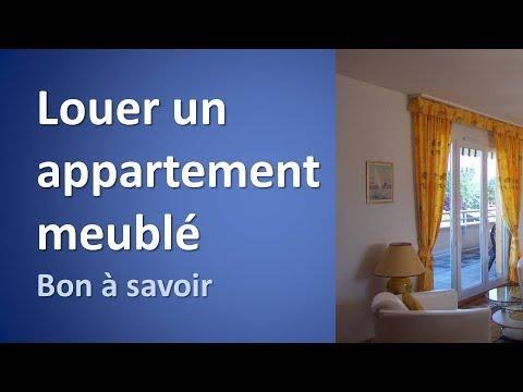 Louer Un Appartement Meublé à Genève, Bon à Savoir