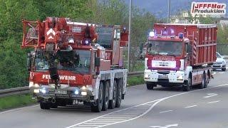 VRW BF Heidelberg lotst B-Dienst + Kraneinheit BF Mannheim