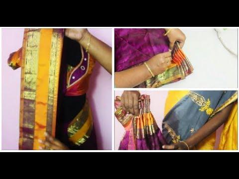 New Method To Pleat And Iron A Pattu Silk Saree DIY