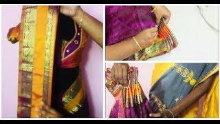 New Method to Pleat and iron a Pattu/Silk Saree (DIY)