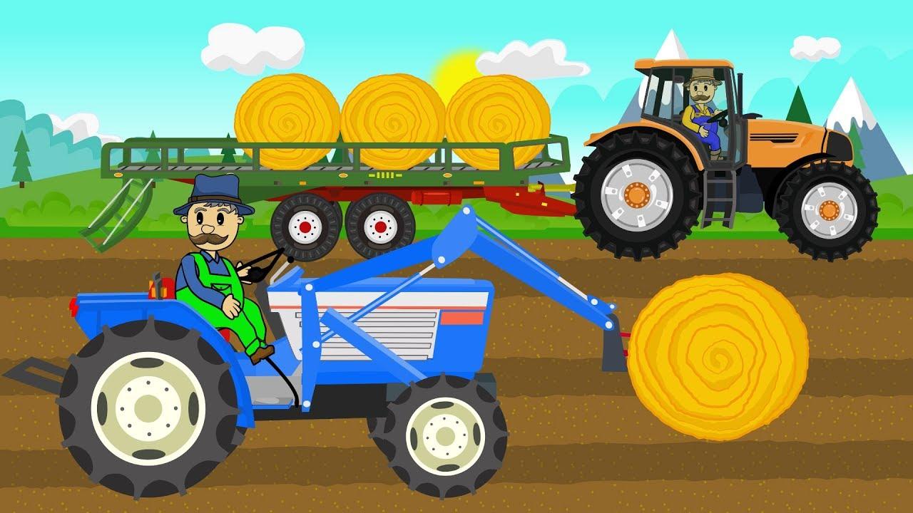 Download Picking Up Straw Bales | Work on a field - Tractor Story | Zbieranie bel słomy - Bajki Traktory