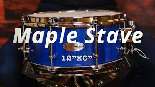 12x6 Fingerjointed Stave Snare drum by Zebra drums (sound examples)