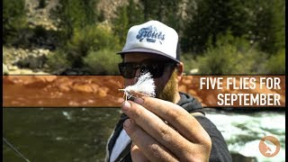 Trouts Fly Fishing: Five Flies for September