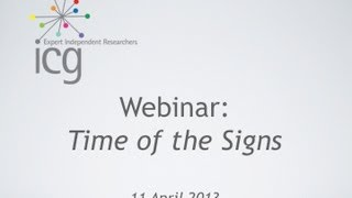ICG Webinar - Time of the Signs - An Introduction to Semiotics - Part I