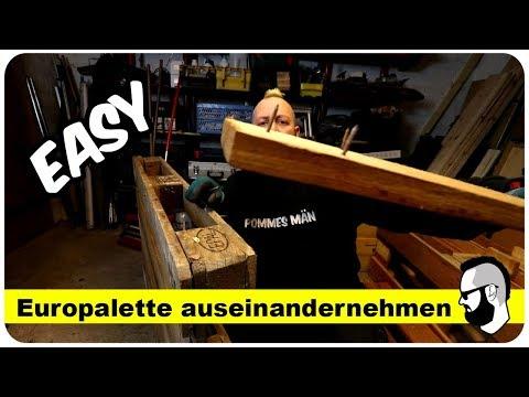Palette Zerlegen Eine Variante Fur Hartnackige Europaletten Youtube