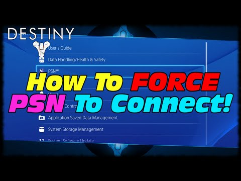 How To Fix Your PSN Connection On PS4! How To Force Yourself Back Online On PS4 PSN Destiny!