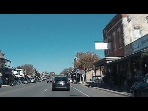 Boerne Texas -- Driving Down Main Street --  Dash Cam Video