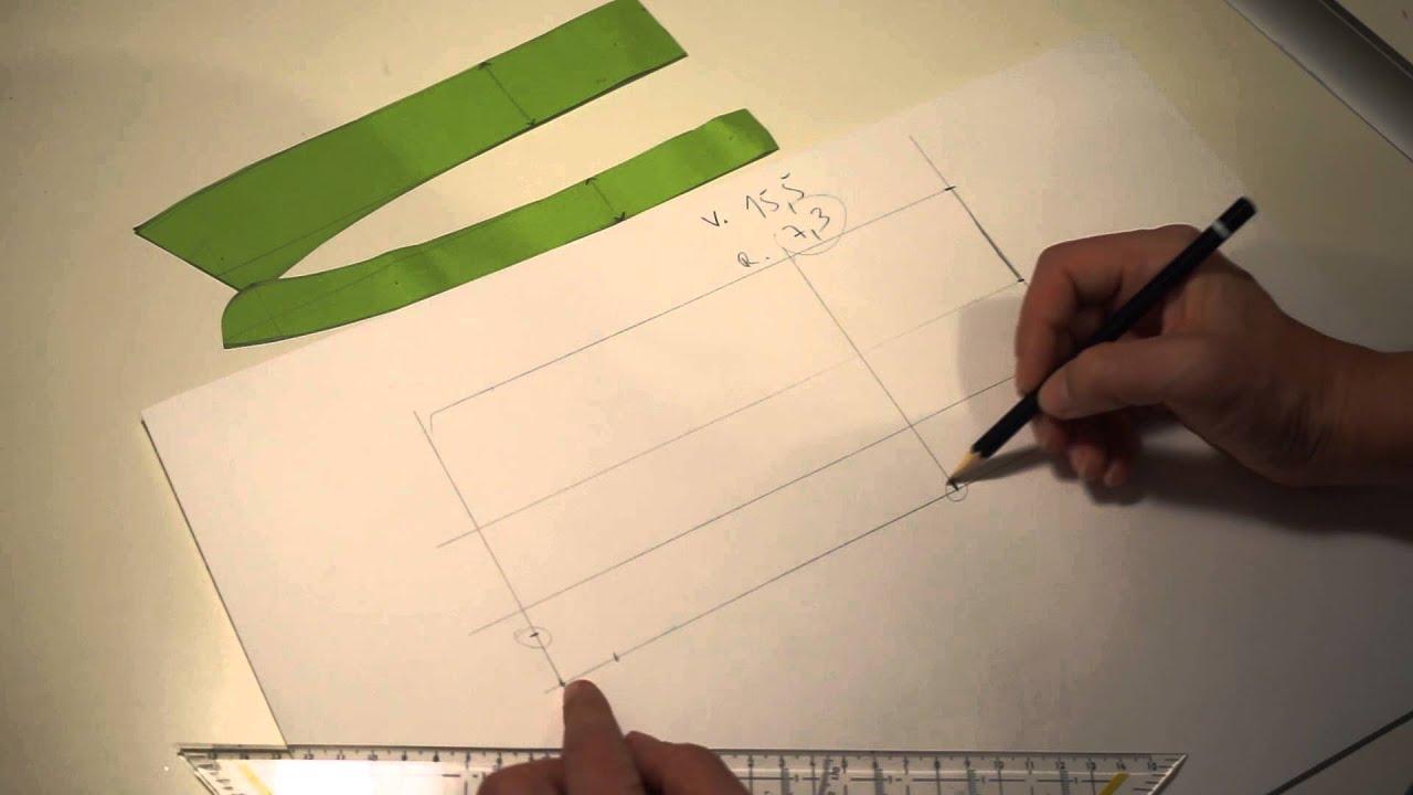 Schnittmuster Kragen mit Steg selbst machen - YouTube