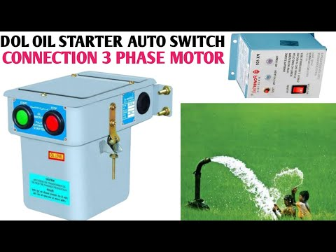 3phase dol oil starter auto switch connection in Hindi/7 wire auto switchconnection with dol starter