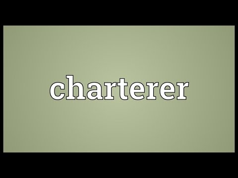 Charterer Meaning