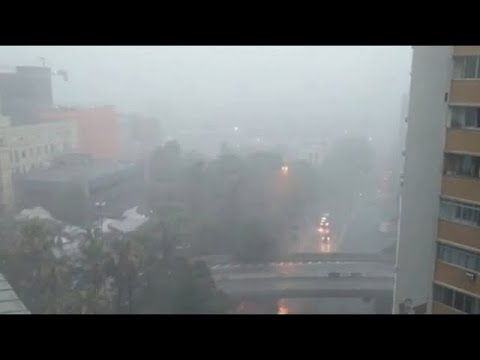 عواصف مهولة وصاعقة مخيفة وسيول تجتاح البرازيل، ريو غراندي دو سول