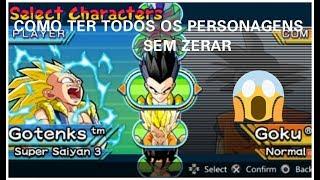 COMO desbloquear todos os personagens do jogo DRAGON BALL Z SHIN BUDOKAI   MUNDO ANIME & GAMES
