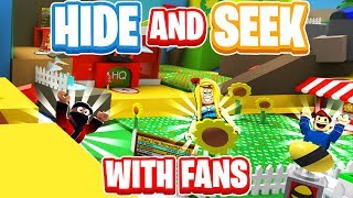 EPIC Hide and Seek With Fans In Roblox Bee Swarm Simulator