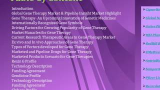 Aarkstore - Gene Therapy Insight: Pipeline Assessment, Technology Trend, and Competitive Landscape