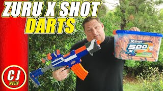 Zuru X Shot Darts Review | 2018 Compatible With Nerf Blasters ?