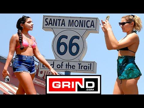 Santa Monica Beach Pier Boardwalk Observational Documentary Virtual Bike Tour Grind 7-17-21 at 2pm