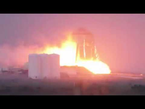 SpaceX StarHopper First Static Fire Test - Audio/Video Synced