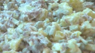 Мясной салат с отварной говядиной видео рецепт