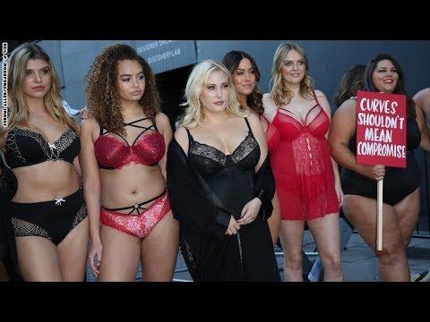 عارضات أزياء الوزن الزائد يحتججن بملابسهن الداخلية في لندن  - نشر قبل 29 دقيقة