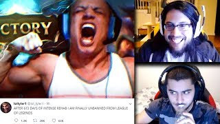NEW! RIOT OFFICIALLY UNBANS TYLER1 (1/5/18) - Yassuo Reacts | Trick2g | Imaqtpie | LoL Funny Moments