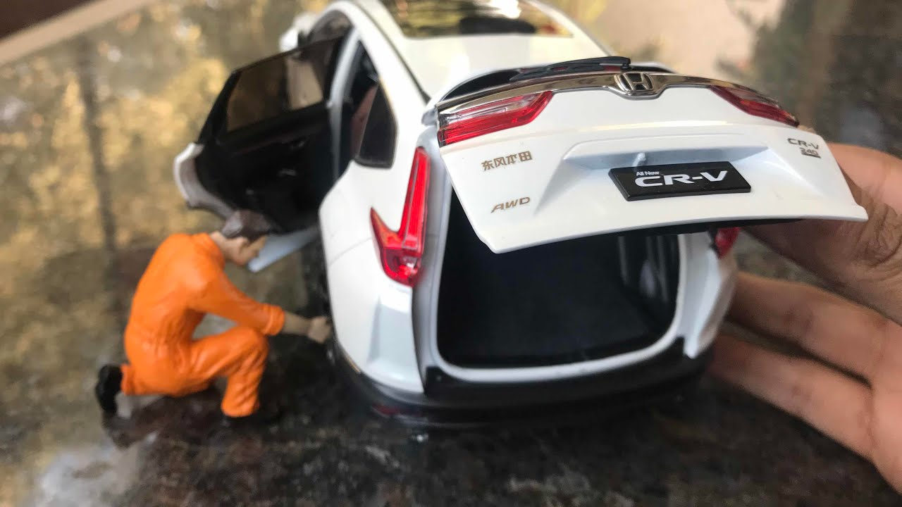 Cast Unboxing 2018 Honda Crv 1 18 Paudi Models Collection
