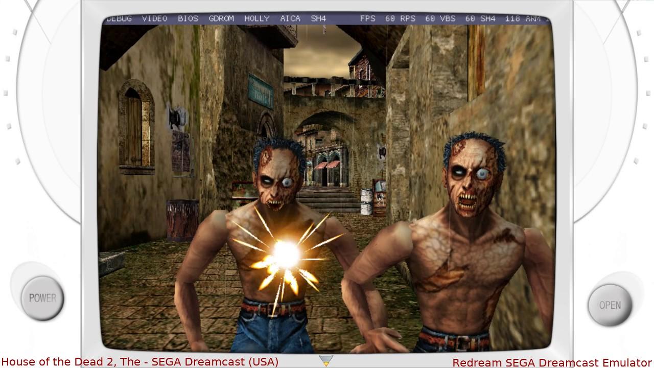 Redream Sega Dreamcast Emulator The House Of The Dead 2 Youtube