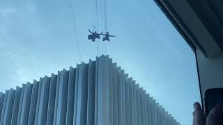 KEANU REEVES (Neo) Jumping off a roof in San Francisco for the new Matrix 4 Movie!!