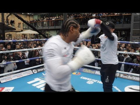 POWERFUL! DAVID HAYE (FULL & COMPLETE) PUBLIC WORKOUT AHEAD OF GRUDGE REMATCH / BELLEW v HAYE