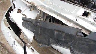 ВАЗ 2114 Лобовой удар лонжерон капот телевизор крылья бампер