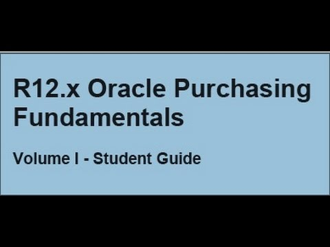 Oracle Purchasing Part 10 (Create Purchase Order Manually)