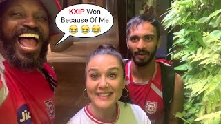 Chris Gayle Funny Video With Preity Zintta After KXIP Defeats KKR By 8 Wickets!!! #IPL2020