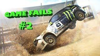 GAME FAILS: #2 Colin McRae: Dirt 2 (Crashes, Funny moment, Stunts Compilation)